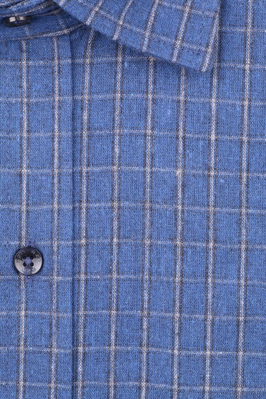 Мужская классическая рубашка в клетку, длинный рукав (Арт. T 4343)