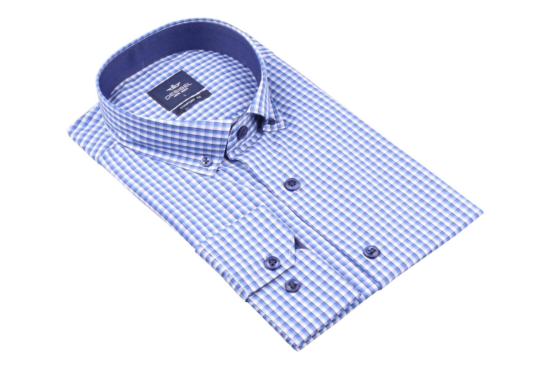 Мужская рубашка в клетку, длинный рукав (Арт. T 4354)