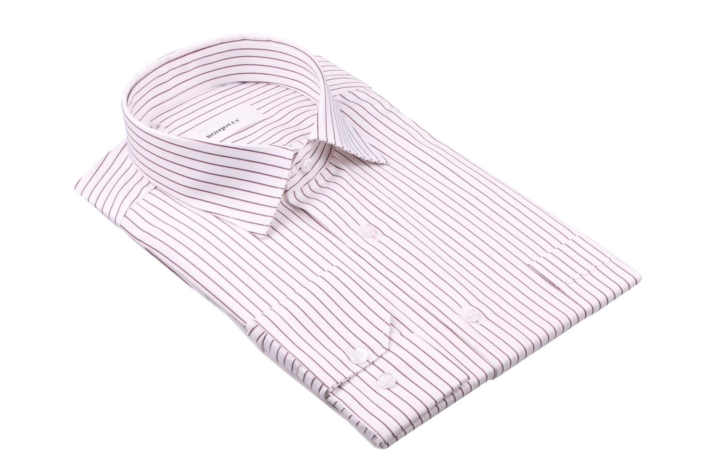 Рубашка мужская классика в полоску, длинный рукав (Арт. T 4409)