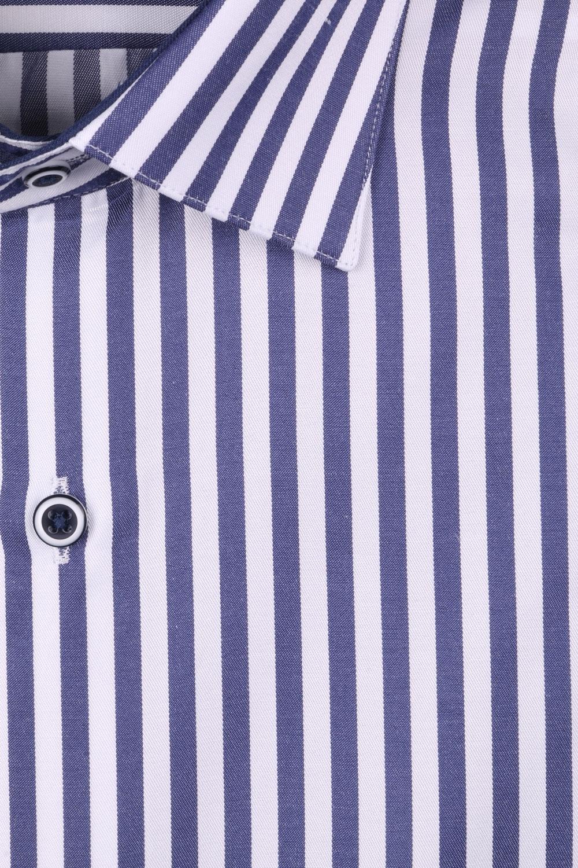 Рубашка мужская классика в полоску, длинный рукав (Арт. T 4414)