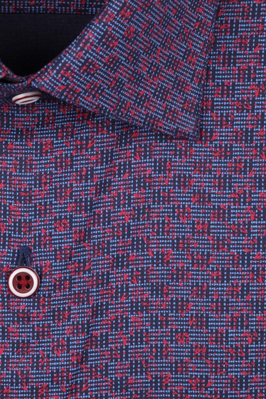 Рубашка мужская классика в мелкую клетку, длинный рукав (Арт. T 4417)