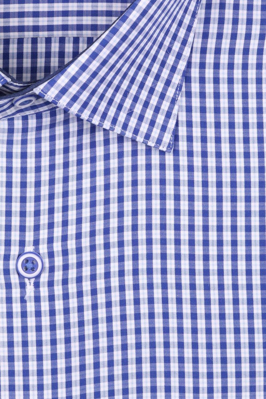 Рубашка мужская классика в мелкую клетку, длинный рукав (Арт. T 4422)