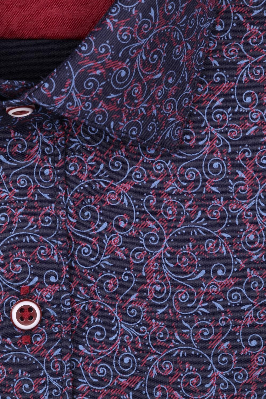 Рубашка мужская приталенная в рисунок, длинный рукав (Арт. T 4432)