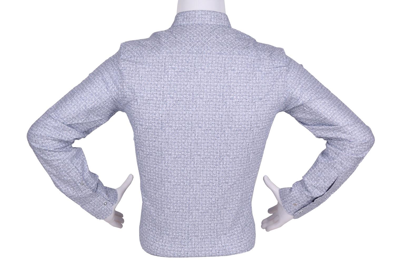 Рубашка мужская приталенная в рисунок, длинный рукав (Арт. T 4449)