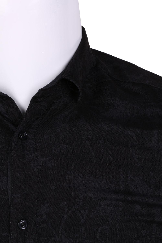 Рубашка мужская приталенная в рисунок, длинный рукав (Арт. T 4458)