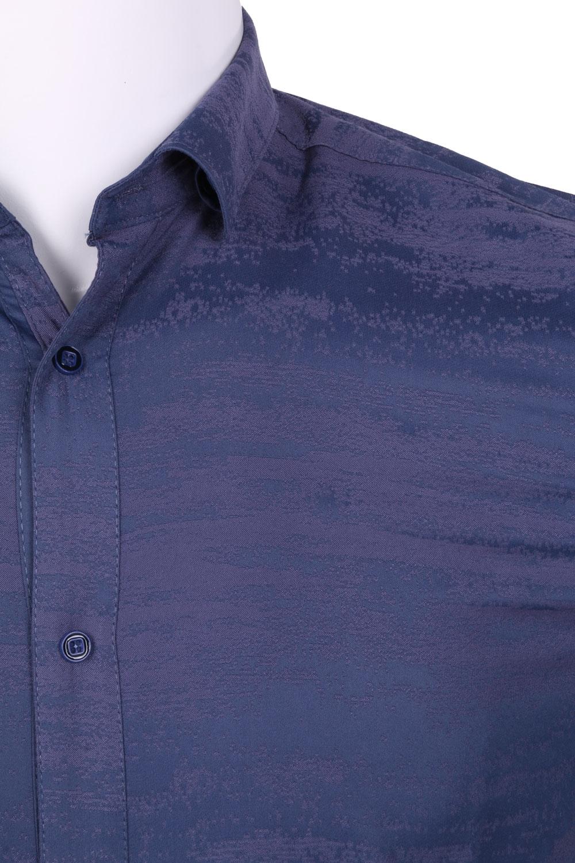 Рубашка мужская приталенная в рисунок, длинный рукав (Арт. T 4464)