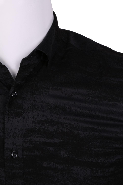 Рубашка мужская приталенная в рисунок, длинный рукав (Арт. T 4466)