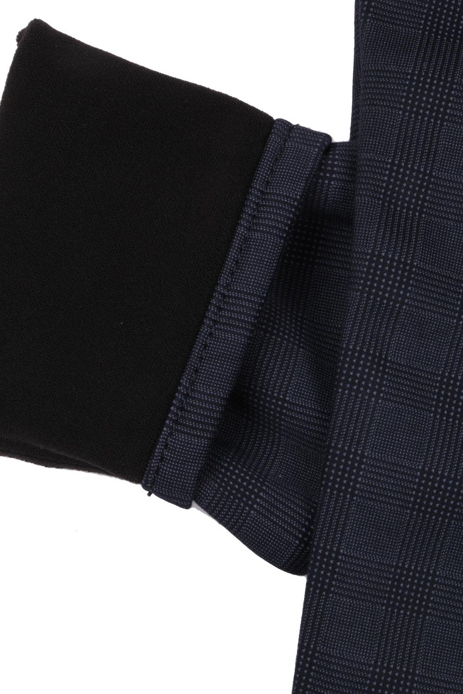 Джинсы для мальчика тёмно-серого цвета в клетку (Арт. D-JEANS 4473)