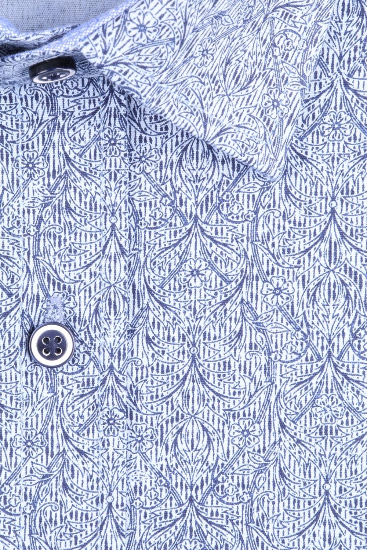 Рубашка мужская приталенная в рисунок, короткий рукав (Арт. T 4479К)