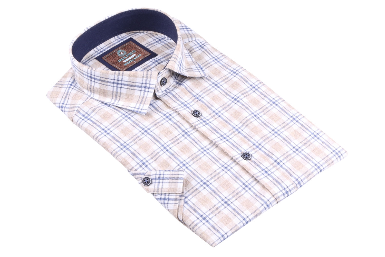 Рубашка мужская в клетку, короткий рукав (Арт. T 4484К)