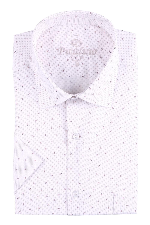 Рубашка мужская классика в рисунок, короткий рукав (Арт. T 4502К)