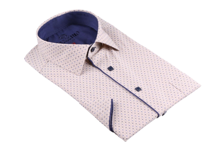 Рубашка мужская классика в рисунок, короткий рукав (Арт. T 4503К)