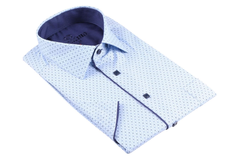 Рубашка мужская классика в рисунок, короткий рукав (Арт. T 4504К)