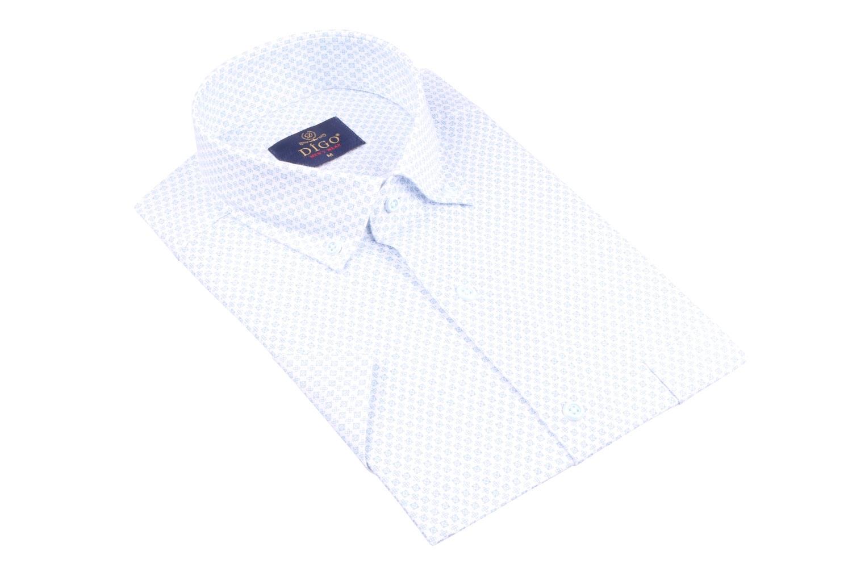 Рубашка мужская классика в рисунок, короткий рукав (Арт. T 4523К)