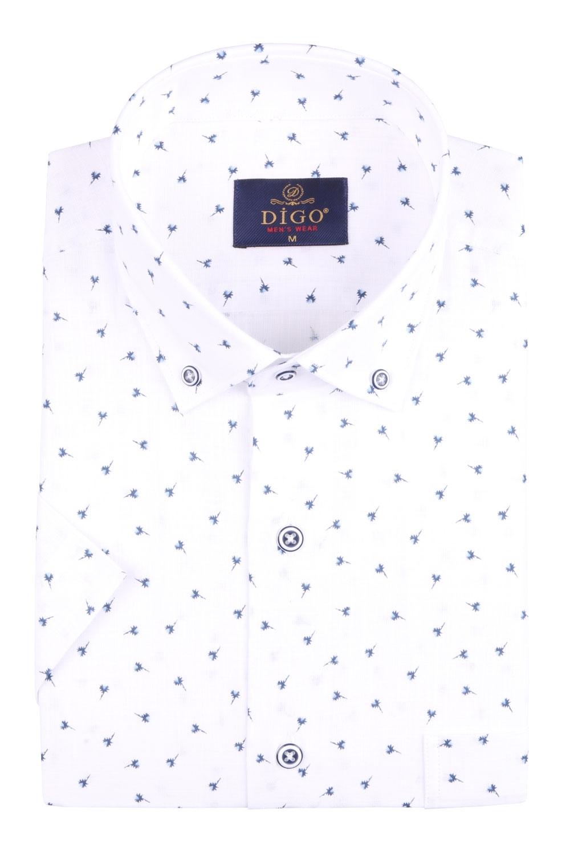 Классическая мужская рубашка в рисунок, короткий рукав (Арт. T 4526К)