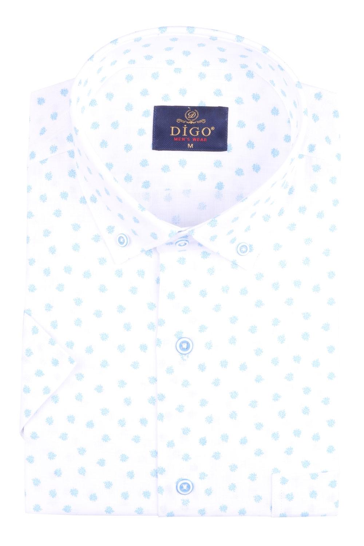 Рубашка мужская классика в рисунок, короткий рукав (Арт. T 4532К)