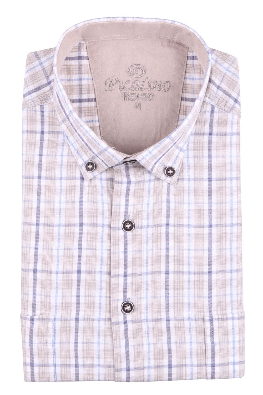 Рубашка мужская классика в клетку, короткий рукав (Арт. T 4543К)