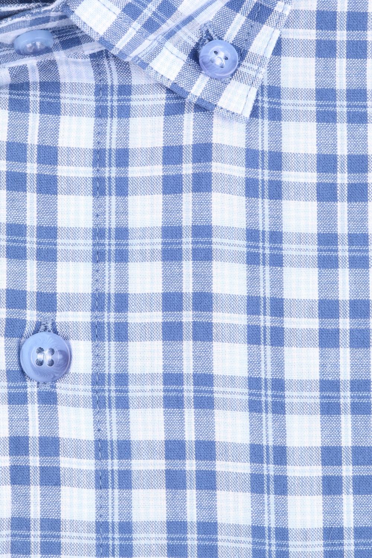 Рубашка мужская классика в клетку, короткий рукав (Арт. T 4570К)