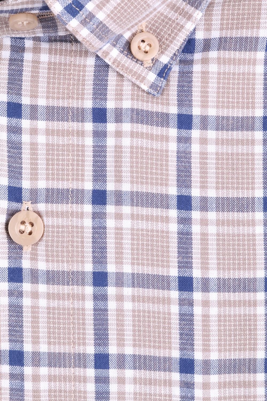 Рубашка мужская классика в клетку, короткий рукав (Арт. T 4577К)