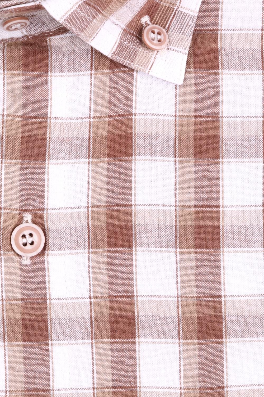 Рубашка мужская классика в клетку, короткий рукав (Арт. T 4581К)