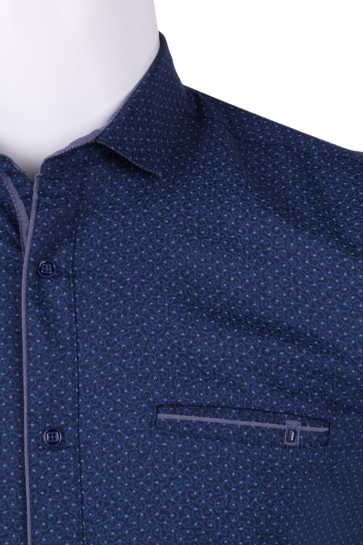 Рубашка мужская приталенная в мелкий рисунок, короткий рукав (Арт. T 4600К)