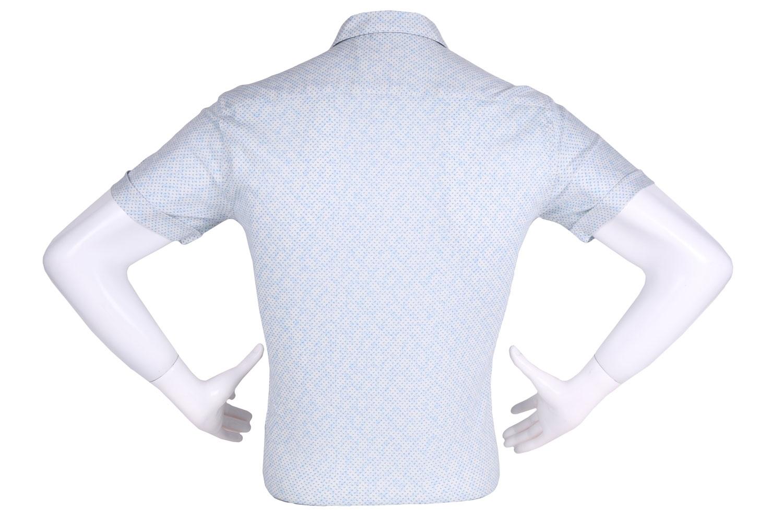 Рубашка мужская приталенная в мелкий рисунок, короткий рукав (Арт. T 4610К)