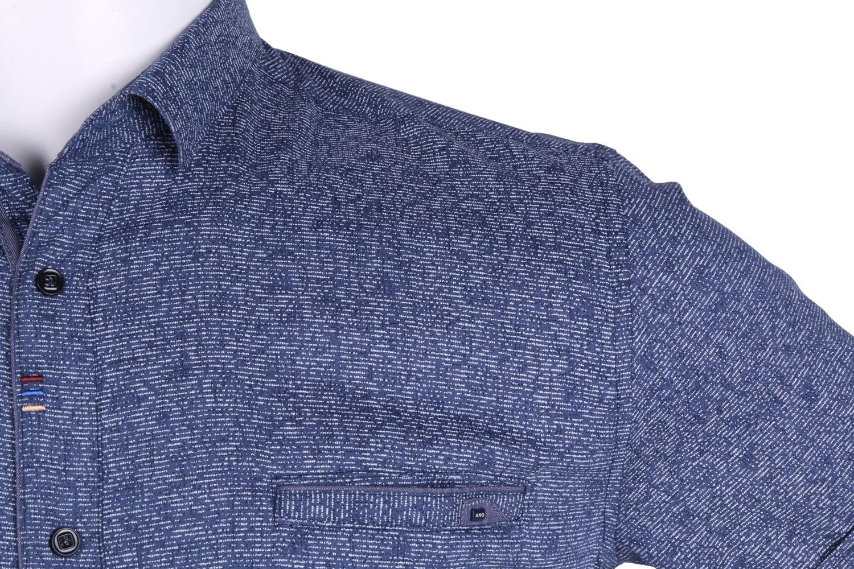 Рубашка мужская приталенная в мелкий рисунок, короткий рукав (Арт. T 4630К)