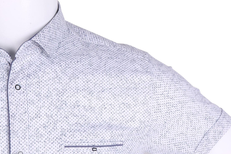 Рубашка мужская приталенная в мелкий рисунок, короткий рукав (Арт. T 4634К)