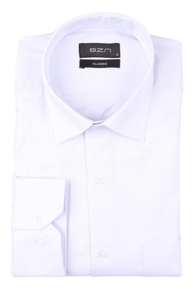 Рубашка мужская классика в мелкую клетку, длинный рукав (Арт. T 4643)