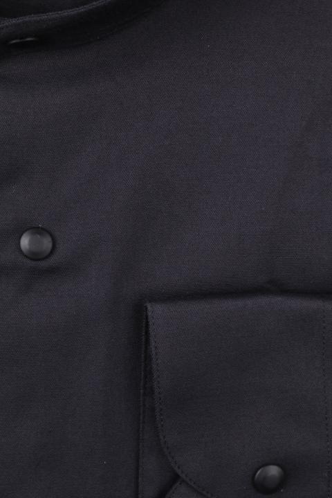 Рубашка мужская приталенная воротник стойка, длинный рукав (Арт. T 4668)