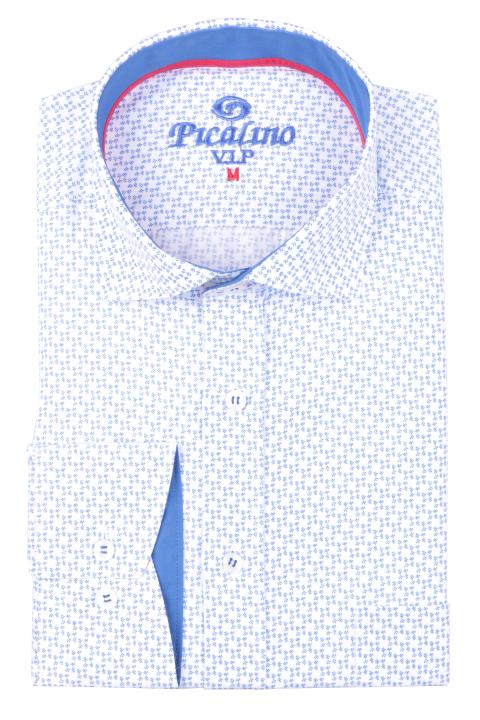 Рубашка мужская классика в мелкий рисунок, длинный рукав (Арт. T 4677)