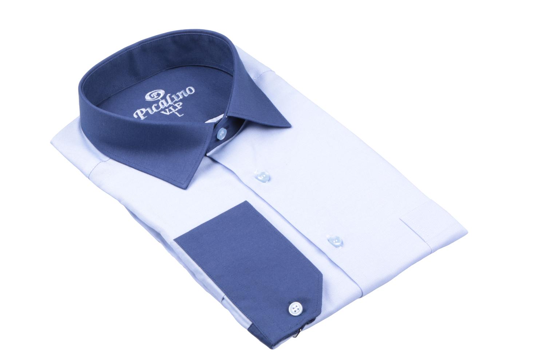 Рубашка мужская классика в мелкую полоску, длинный рукав (Арт. T 4681)