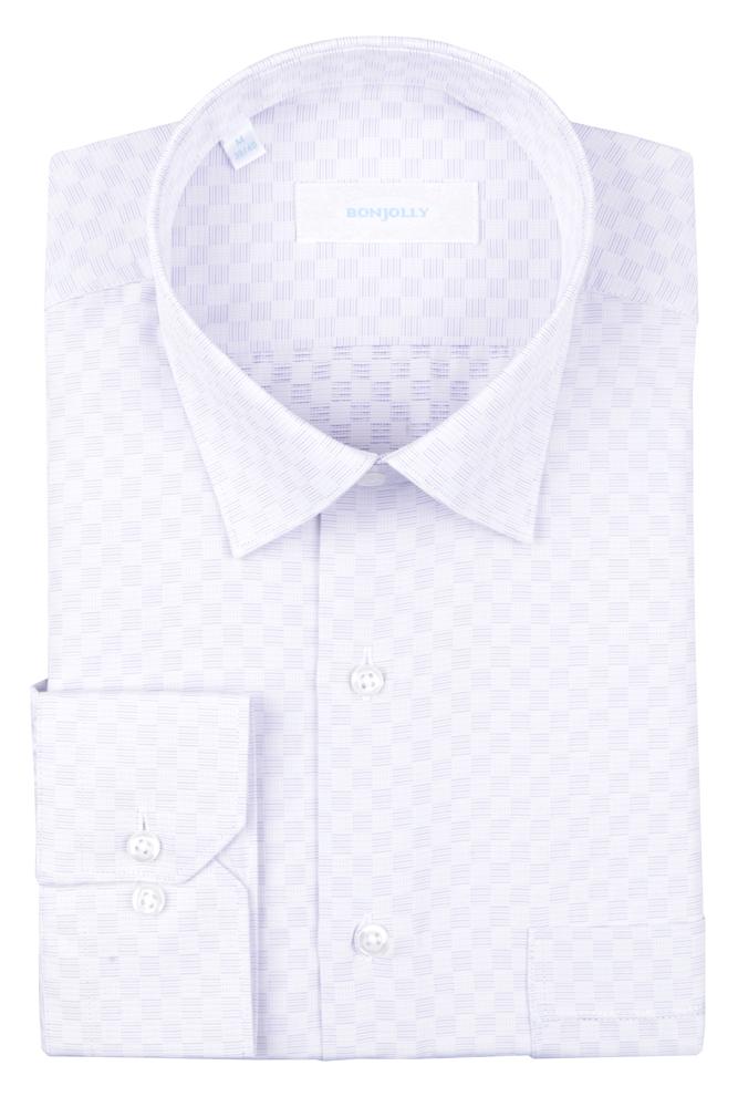 Рубашка мужская классика в клетку, длинный рукав (Арт. T 4695)