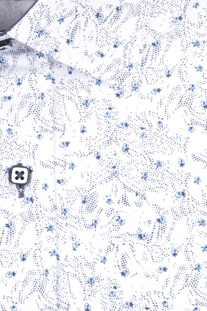 Рубашка мужская приталенная в мелкий рисунок, длинный рукав (Арт. T 4704)