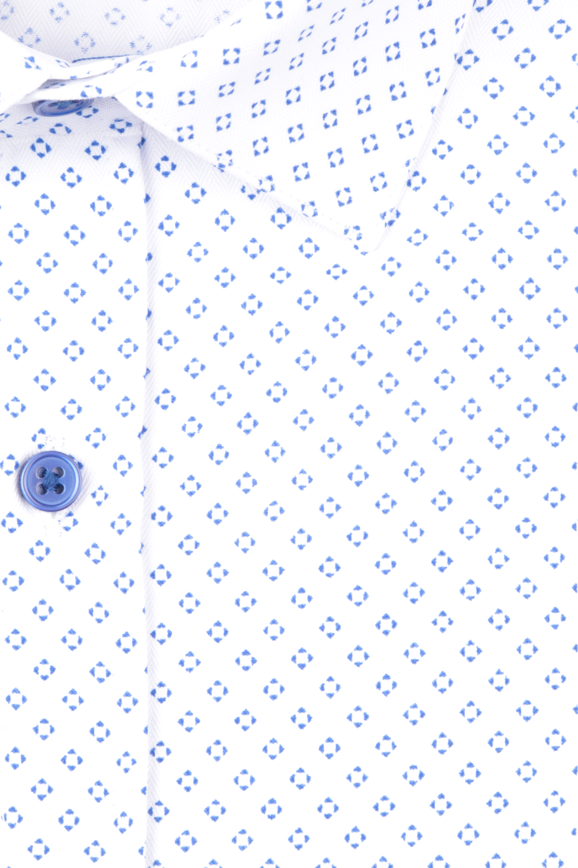 Рубашка мужская приталенная в мелкий рисунок, длинный рукав (Арт. T 4712)