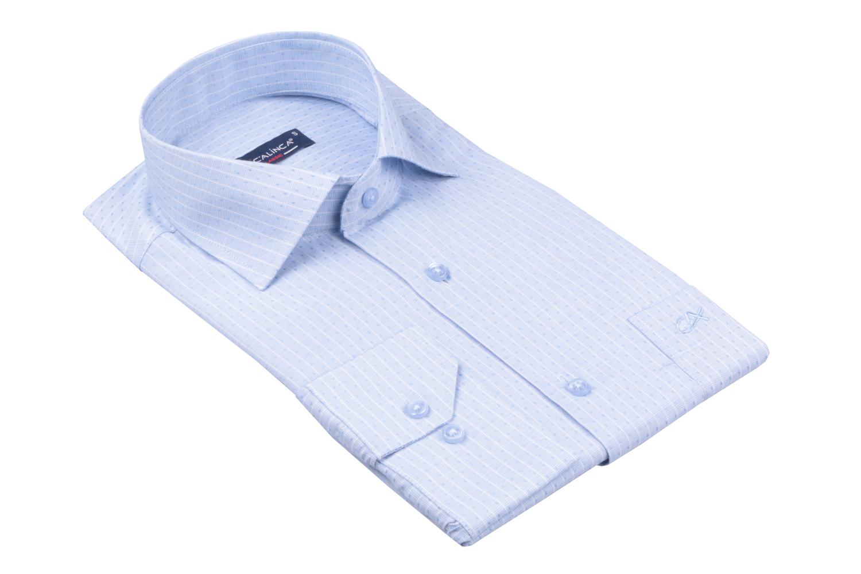 Рубашка мужская классика в полоску, длинный рукав (Арт. T 4741)