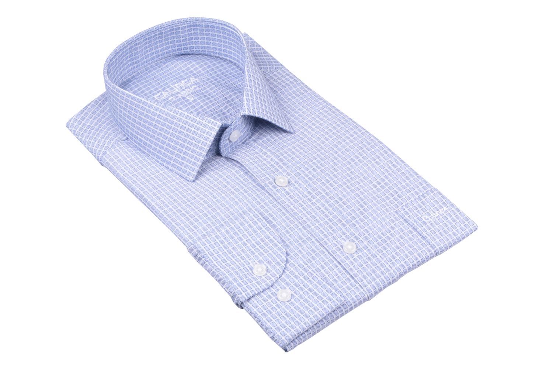 Рубашка мужская классика в клетку, длинный рукав (Арт. T 4745)