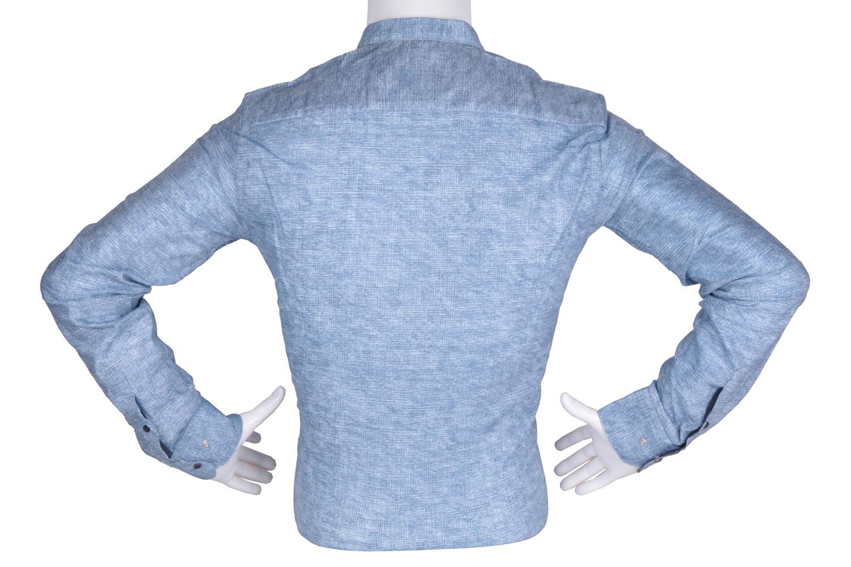 Рубашка мужская приталенная в мелкий рисунок, длинный рукав (Арт. T 4785)