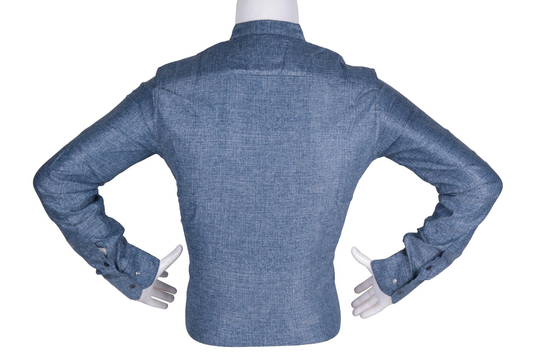 Рубашка мужская приталенная в мелкий рисунок, длинный рукав (Арт. T 4786)