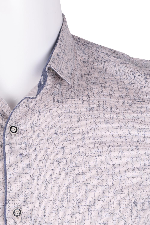 Рубашка мужская приталенная в мелкий рисунок, длинный рукав (Арт. T 4792)