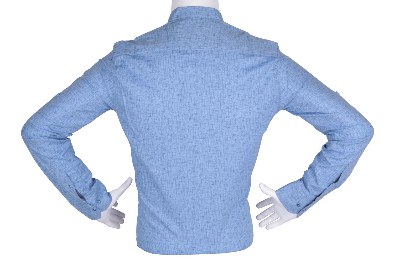 Рубашка мужская приталенная в мелкий рисунок, длинный рукав (Арт. T 4793)