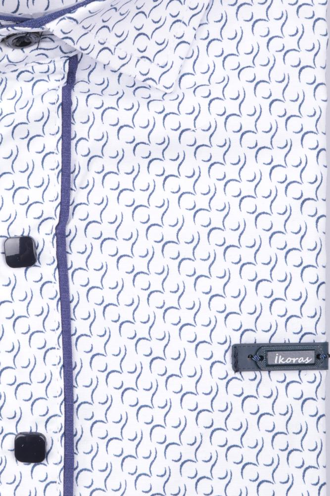 Детская рубашка в мелкий рисунок, длинный рукав (Арт. TB 4845)
