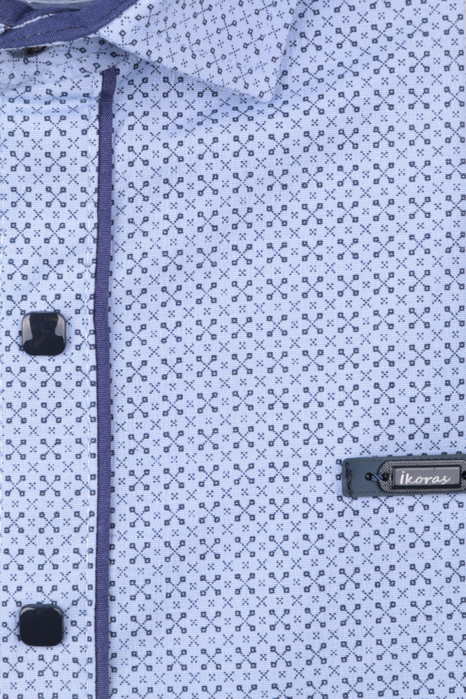 Детская рубашка в мелкий рисунок, длинный рукав (Арт. TB 4854)