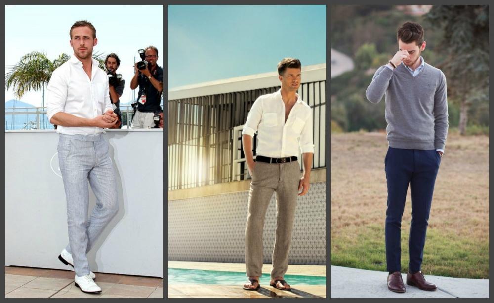 Мужские брюки на лето 2018